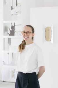 Portrait of Aurore Brard during Milan design week 2018 by Reporter Wing tan.